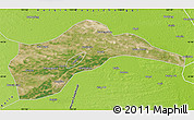 Satellite Map of Tongliao, physical outside