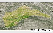 Satellite Map of Tongliao, semi-desaturated