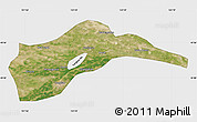 Satellite Map of Tongliao, single color outside