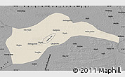 Shaded Relief Map of Tongliao, darken, desaturated