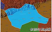 Political Map of Tumd Youqi, darken