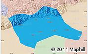 Political Map of Tumd Youqi, lighten