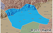 Political Map of Tumd Youqi, semi-desaturated