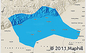 Political Map of Tumd Youqi, shaded relief outside
