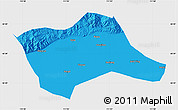 Political Map of Tumd Youqi, single color outside