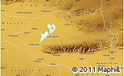 Physical Map of Urad Qianqi