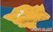 Political Map of Urad Qianqi, darken