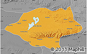 Political Map of Urad Qianqi, desaturated