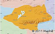 Political Map of Urad Qianqi, lighten