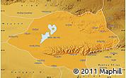 Political Map of Urad Qianqi, physical outside