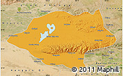 Political Map of Urad Qianqi, satellite outside