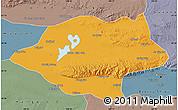 Political Map of Urad Qianqi, semi-desaturated