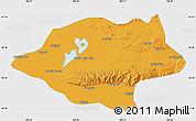 Political Map of Urad Qianqi, single color outside