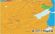 Political Panoramic Map of Xinbarag Youqi