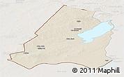 Shaded Relief Panoramic Map of Xinbarag Youqi, lighten