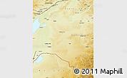 Physical Map of Xinbarag Zuoqi