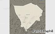 Shaded Relief Map of Zhanglan Qi, darken