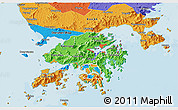 Political 3D Map of New Territories