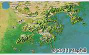 Satellite 3D Map of New Territories