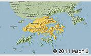 Savanna Style 3D Map of New Territories
