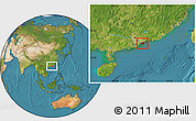 Satellite Location Map of New Territories