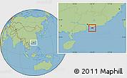 Savanna Style Location Map of New Territories