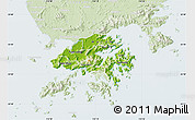 Physical Map of New Territories, lighten