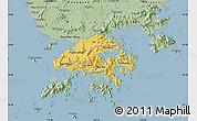 Savanna Style Map of New Territories