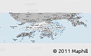 Gray Panoramic Map of New Territories