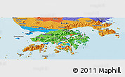 Political Panoramic Map of New Territories