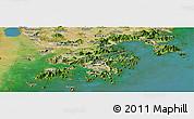 Satellite Panoramic Map of New Territories