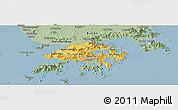 Savanna Style Panoramic Map of New Territories