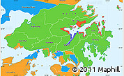 Political Simple Map of New Territories