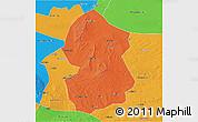 Political 3D Map of Lingwu