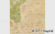 Satellite 3D Map of Lingwu