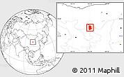 Blank Location Map of Lingwu