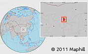 Gray Location Map of Lingwu