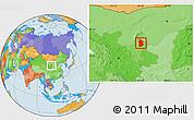 Political Location Map of Lingwu