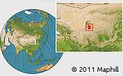 Satellite Location Map of Lingwu
