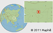 Savanna Style Location Map of Lingwu