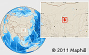 Shaded Relief Location Map of Lingwu