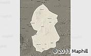 Shaded Relief Map of Lingwu, darken