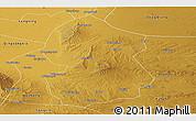 Physical Panoramic Map of Lingwu