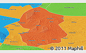 Political Panoramic Map of Lingwu