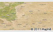 Satellite Panoramic Map of Lingwu