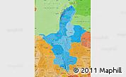 Political Shades Map of Ningxia