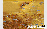 Physical Panoramic Map of Ningxia