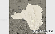 Shaded Relief Map of Tongxin, darken