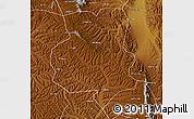Physical Map of Xiji