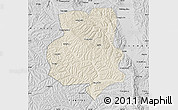 Shaded Relief Map of Xiji, desaturated